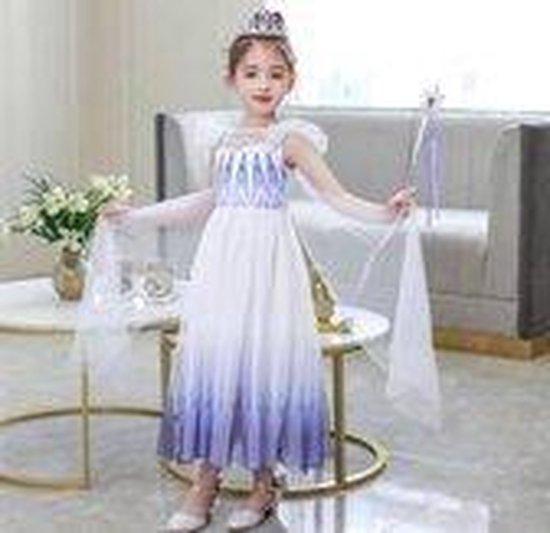 prinsessenjurk wit met paars