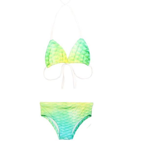 bikini blauw/geel