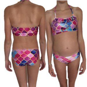 luxe bikini king met roesel randje