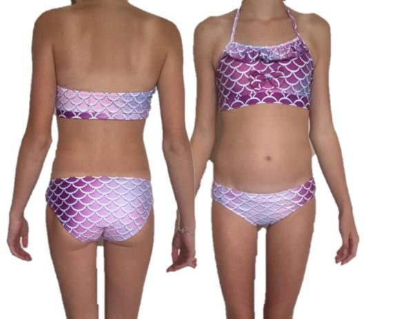 uxe bikini lila met roesel randje