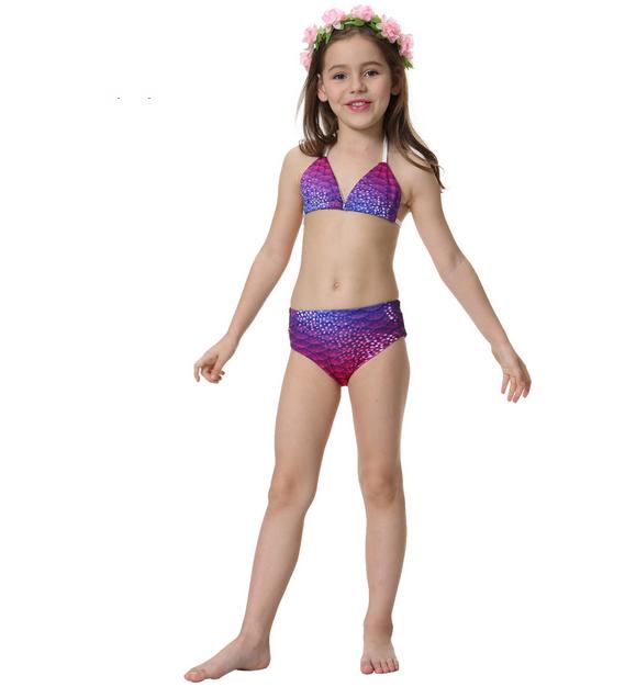 Zeemeermin bikini bluepink