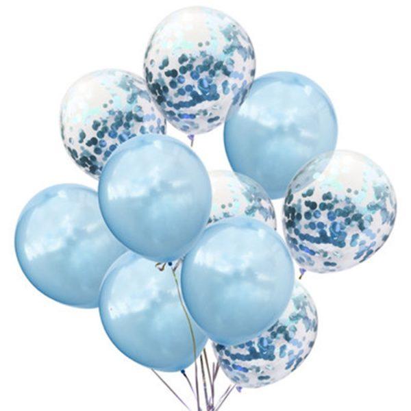 confetti ballonnen blaua
