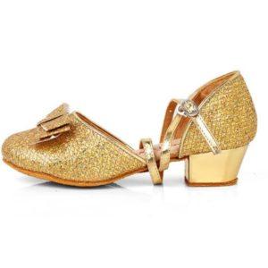 prinsessen schoentjes goud met strikje