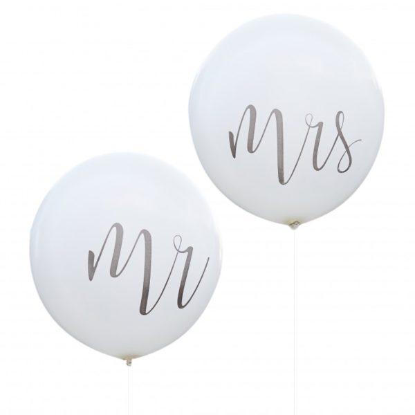 MR & MRS ballonnen