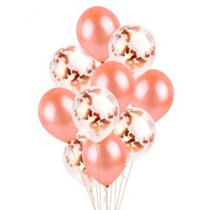 confetti ballonnen rose gold