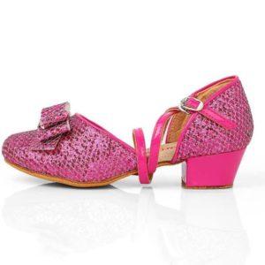 prinsessenschoentjes roze met strikje