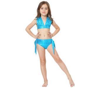 bikini blauwe glitter