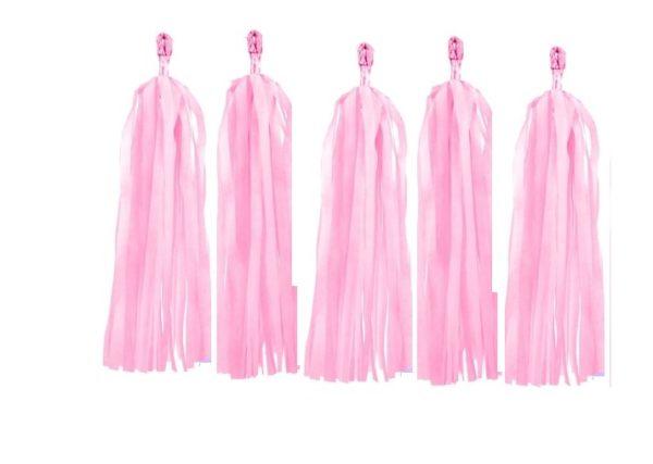 tassels licht roze